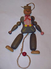Wooden Pull String Toy Puppet Jumping Jack Man  Made in Austria