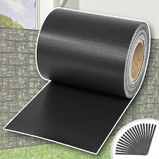 Rollo aislamiento aislante PVC 70m x 19cm jardín para vallas banda antracita NUE