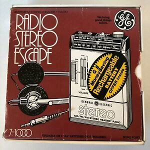 Vintage General Electric Radio Stereo Escape 7-1000 C Stereo New Box Hong Kong