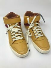 Alexander McQueen for Puma Men size 9 Leather Mustard color Hi Tops Hard to Find