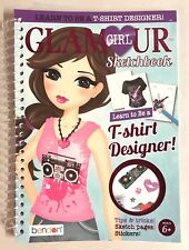 Learn To Be A T-Shirt Fashion Designer Glamour Girl Sketch Book Arts Craft New