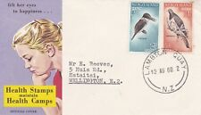 NZFD1008) NZ 1960 Health Stamps (Maintain Health Camps) - Birds FDC