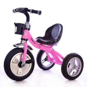 Little Bambino RideOn Pedal Tricycle Children Kids Smart Design 3 Wheeler - pink