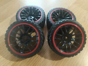 Rc car touring car wheels and tyres set 12mm hex