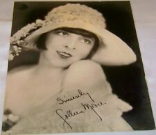Antique Studio Facsimile Signed Photograph of Early Movie Star Coleen Moore