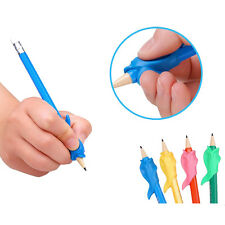 10Pcs Kids Silicone Grip Pen Orthotics Fish Style Pencil Grasp Corrector Tool