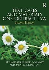 Text, Cases and Materials on Contract Law, Devenney, James, Stone, Richard, Very