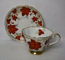 ROYAL CHELSEA England china RCH55 RED IVY LEAVES pattern 453A Cup & Saucer Set
