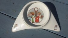 Antique 1912 Underwood's High Chair Baby Plate Porcelain Hickory Dickory Dock
