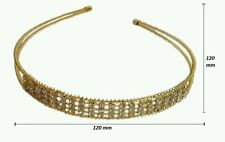 Fashion Crystal Rhinestone Headband Hair Piece  Hair Band for Women Girl Gold