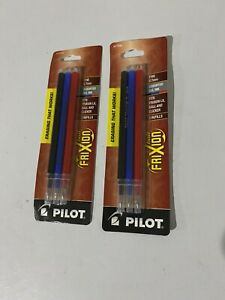 2 Pack Refill for Pilot FriXion, Assorted Gel Ink Fits Frixion LX. 0.7mm