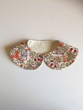 baby girl Floral Liberty Style cotton Peter Pan collar bespoke accessory 🥰