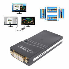 USB to DVI HDMI VGA Multi-Display Adapter Graphic Card Converter F Extra Monitor