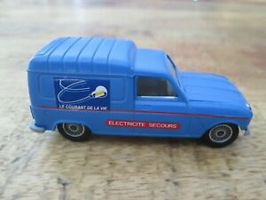 RENAULT 4 F6 ELECTRICITE SECOURS SOLIDO MADE IN FRANCE