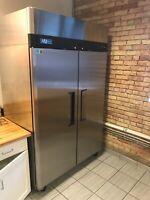 "2 Door 52"" Refrigerator NSF Reach In Upright Cooler Turbo Air M3R47-2 #3980"