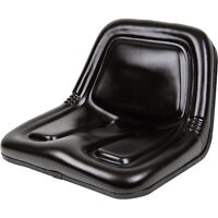 Concentric Deluxe Midback Steel Pan Seat - Black, Model# 135001BK