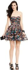 BETSEY JOHNSON Colorful Butterfly Mesh Skirt Bustier Prom Cocktail Party Dress 6