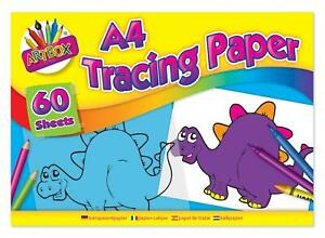 A4 TRACING PAPER PAD CREATIVE FUN LEARNING CRAFTS ART/CRAFTS/SCHOOL 60 SHEETS