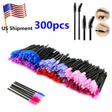 EZGO 300pc Disposable Makeup Eye Eyelash Brush Mascara Wands Applicator Kit