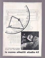 pubblicità OLIVETTI NUOVA STUDIO 42 macchina scrivere 1939