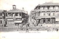 PORT SAID EGYPT~RUE du COMMERCE-COAST GUARD OFFICE~PHOTO POSTCARD 1904