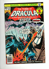 Tomb of Dracula #50 SILVER SURFER APP! VF+ 8.5 HIGH GRADE 1976 WHITE PAGES!