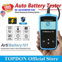 TOPDON ArtiBattery 101 Car Battery Tester Crank Charging System Auto Analyzer