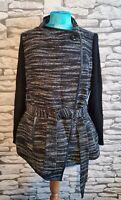 Per Una Coatigan 16 Coat Jacket Cardigan Italian Fabric Navy mix appears Black