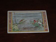 ORIGINAL RIE CRAMER SIGNED ART NOUVEAU ANTHROPOMORPHIC POSTCARD, FROGS.