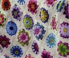Crochet Pattern Vintage Afghan Blanket Throw