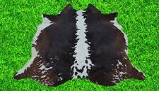 """New Cowhide Rug Hair On COWHIDE Area Rug(63"""" x 54"""")Animal Carpet 23.6 SF SM1892"""