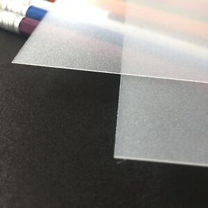 A5 Frosted Acetate Sheet-Clear Thin Flexible Polypropylene Plastic Binding Cover