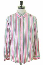 RALPH LAUREN camicia uomo in cotone multicolore made USA 42 16 1/2 Large