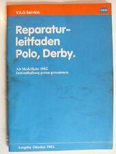 Reparaturleitfaden VAG Volkswagen Polo, Derby ab 1982, 10.1981, 36 Seiten