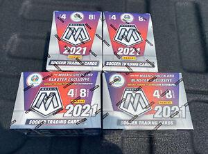 New!! 2021 Panini Mosaic SOCCER,UEFA Euro2020 Blaster boxes. Lot Of 4!!  🔥🔥