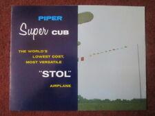 DEPLIANT PUB PIPER AIRCRAFT PIPER PA-18 SUPER CUB STOL AIRPLANE AVION FLUGZEUG