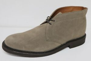 FRYE SETH MEN'S $228 CHUKKA ANKLE BOOTS GREY SUEDE LEATHER LACE UP BRAND NEW