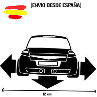 pegatina silueta trasera MEGANE 2 GT dow flechas vinyl sticker racing decal