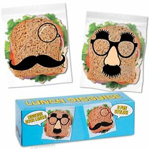 Lunch Disguise Sandwich Bags - Funny Faces Bag Snack Pack Seal Food