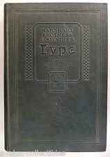 Barnhart Bros. & Spindler CATALOG #25 - 1920's ~ type specimen, typography ~nice