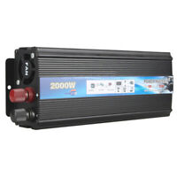 DC 12V/24V To AC 110V/220V Outlets RV Converter 2000W Car Solar Power Inverter