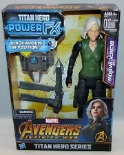 "Marvel Avengers Infiniti War Titan Hero Series Fx Black Widow 11"" Talking Figure"
