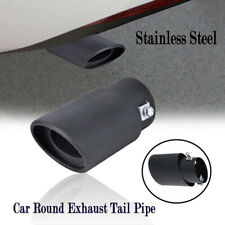 63mm Black Car Exhaust Pipe Inlet Tail Throat Tips Muffler Pipe Stainless Steel