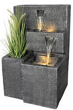 Springbrunnen Grada Gartenbrunnen mit Beleuchtung Zimmerbrunnen Bepflanzbar