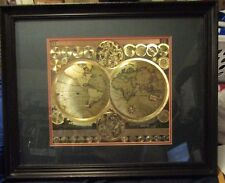 """25"""" X 32"""" DARK FRAME PICTURE GOLD OF THE WORLD,PICTURE UNDER GLASS, IT'S MATTED"""