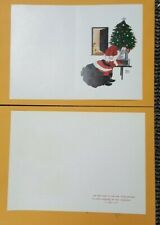 Annie Lee Arts 5 Christmas Cards Santa Blank Note Cards With 5 envelope Sale!