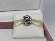 Authentic PANDORA 925 Red Syn Ruby Nature's Radiance Charm Pendant 791969sru