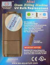 Aquarium UV Stérilisateur Mini 3W Ampoule de rechange vert machine à tuer frfif2uvsb