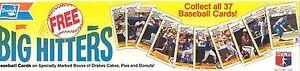 1986 DRAKE'S CAKES BASEBALL PROMO (PETE ROSE, DON MATTINGLY, RYNE SANDBERG + 7