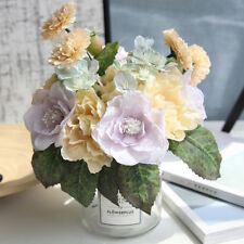 Artificial Silk Fake Flowers Peony Party Wedding Bouquet Bridal Hydrangea Decor